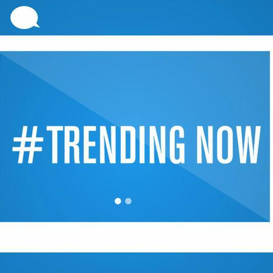 trending with hashtag