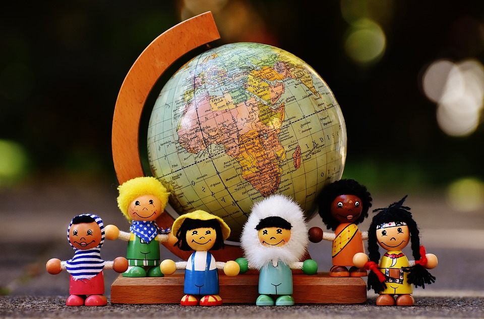 Dolls on the globe